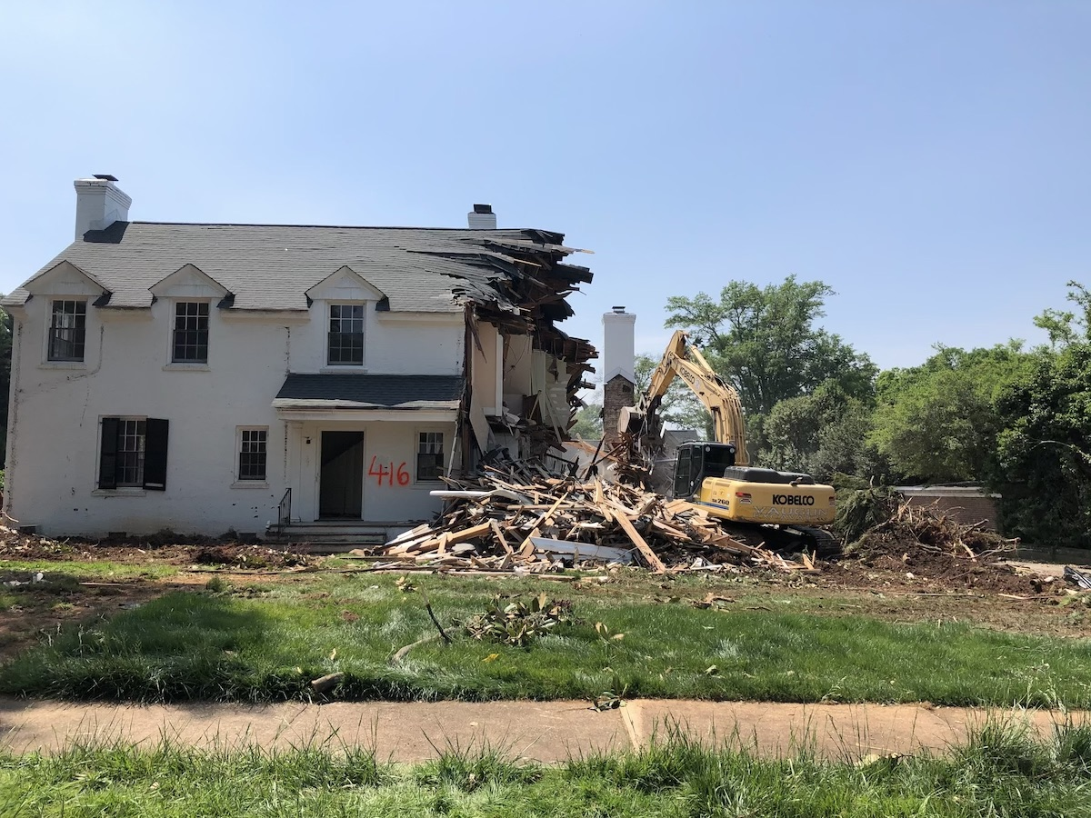 Residential Demolition Greenville After