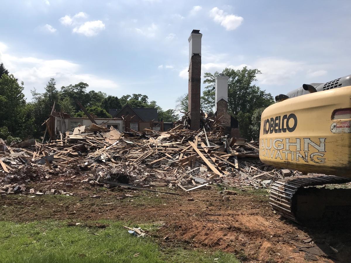 Residential Demolition Older Home After
