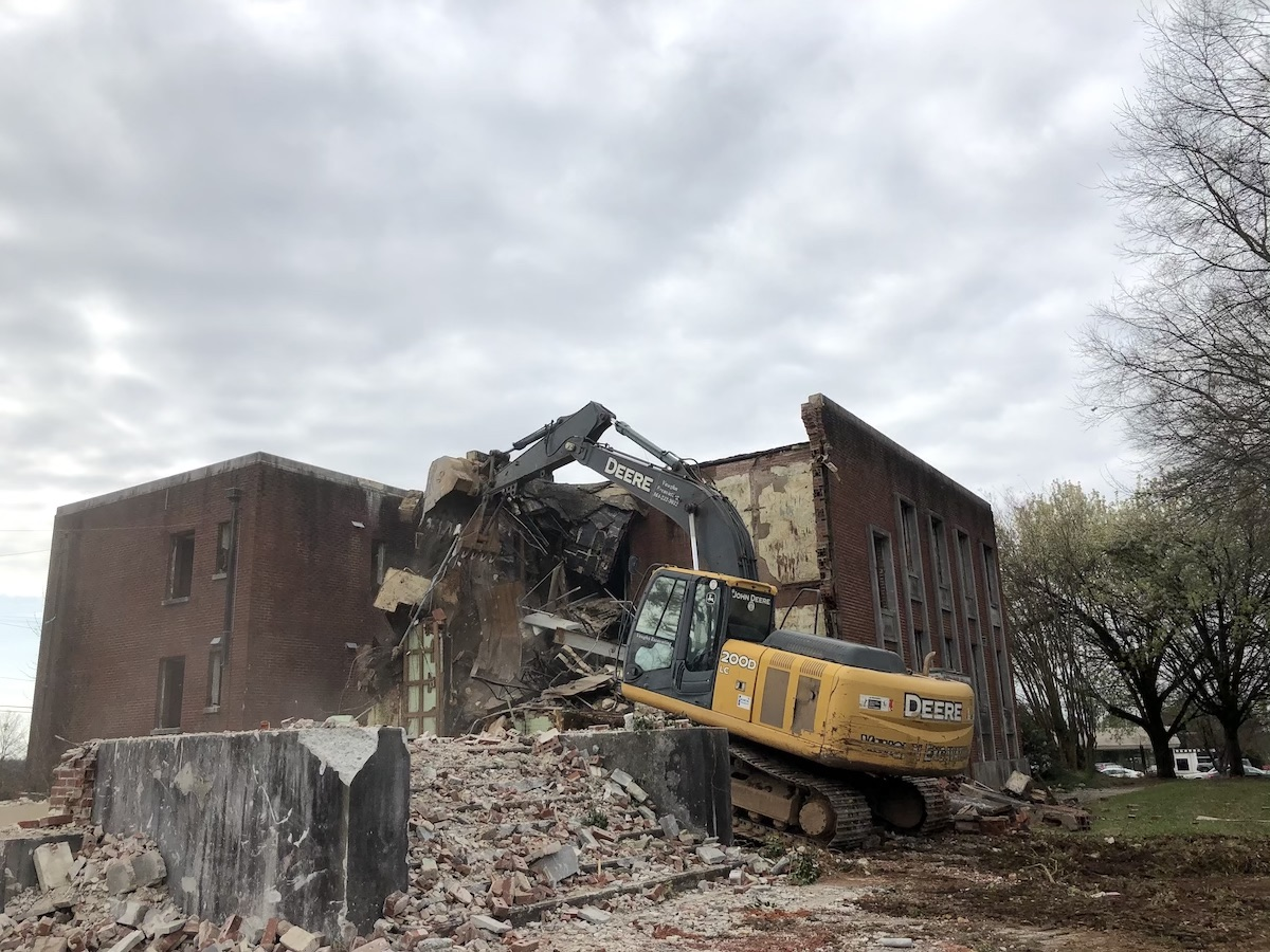 SCHD Demolition Teardown Laurens - Sideview